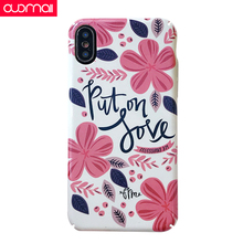 mobile phone bag Case for iphone 8/8P/7/7P/6SP/6Pcase shell Protective case xs max xr x cover Unisex Flower