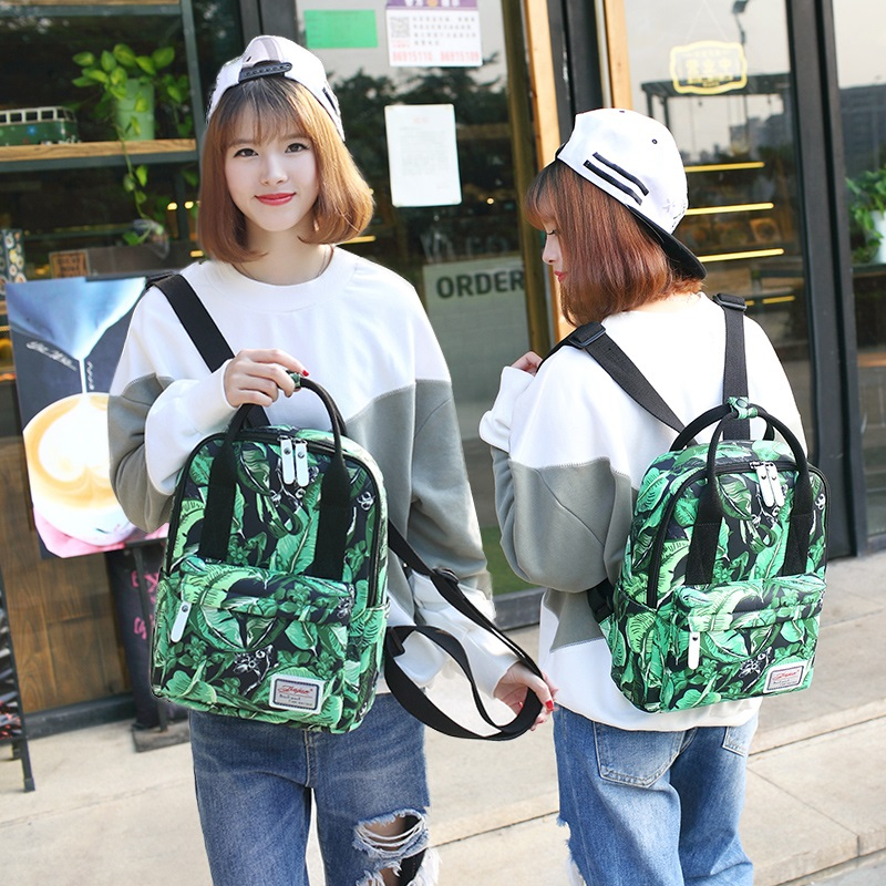2017 women leisure canvas laptop bags students shoulder school bags for teenage girls fashion printing portable