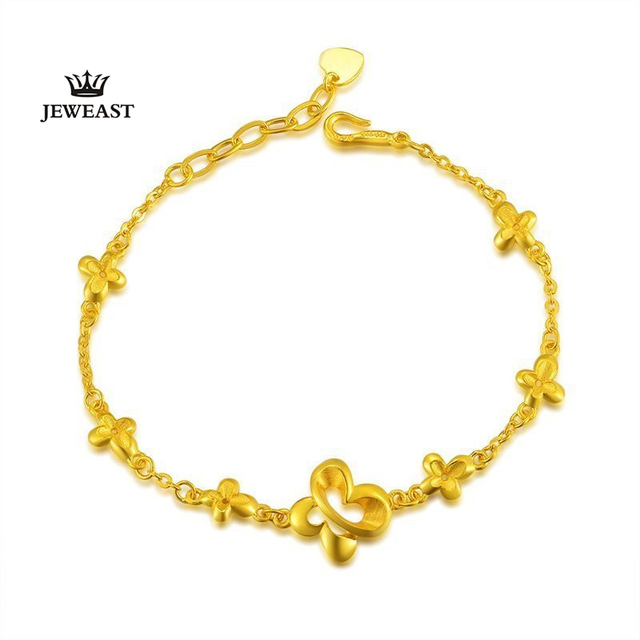 24k Pure Gold Butterfly Bracelets for Women Classical Elements  Elegant and Fashion Bangle Elegance 999Solid Gold  Bracelet