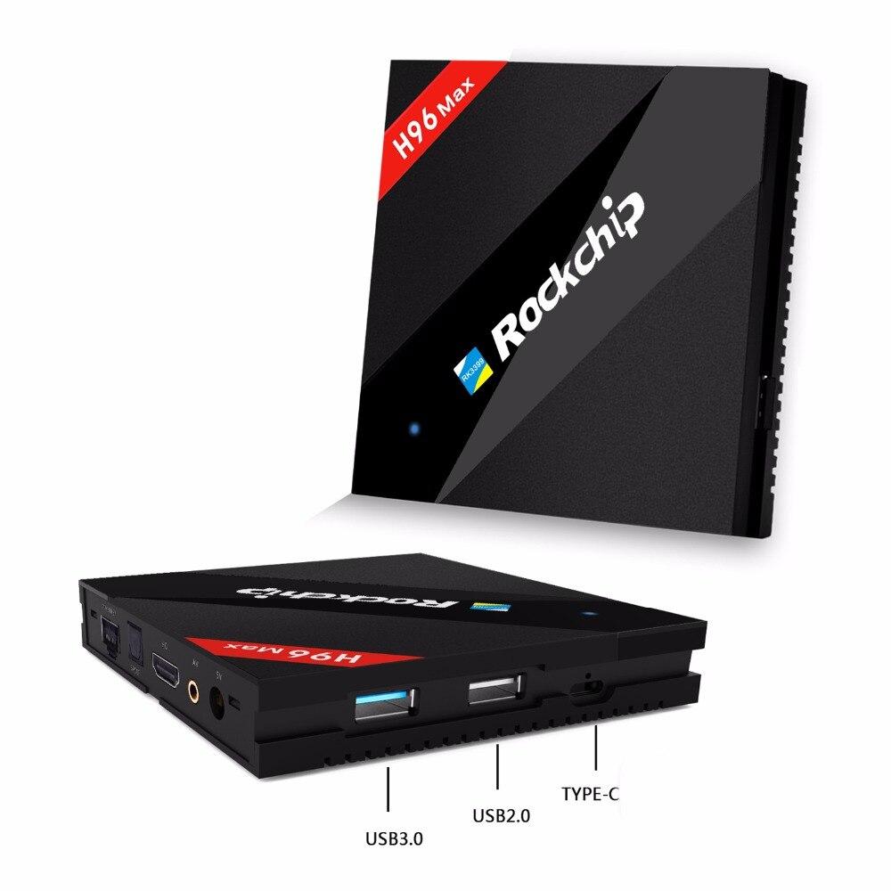 RK3399 Android Smart ТВ коробка 4 ГБ Оперативная память 32 ГБ Встроенная память 2 г/16 г шесть основных 2,4 г /5 г AC Wi Fi Bluetooth 1000 м H96 Max 4 К Потоковое Media Player
