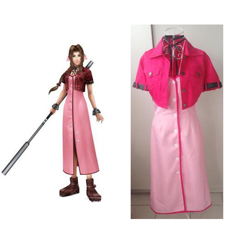 2016 Final Fantasy VII Aerith Gainsborough cosplay costumes halloween