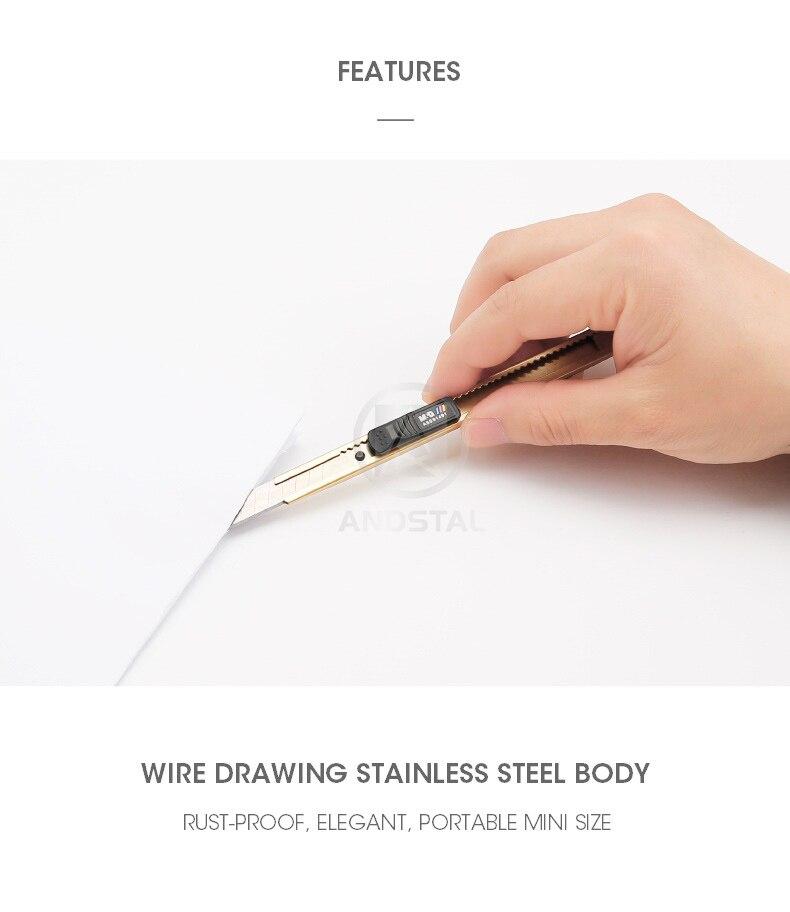 utilitário faca ofício caixa cortador faca ofícios lâminas 9mm