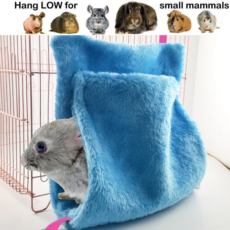 Pet Products Humorous Soft Coral Velvet Bird Nest Pet Parrot Hanging Sleeping Bed Dual Layer Hammock Chinchilla Hamster Parrot Warming Sleep Bag