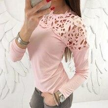 Fashion Women Ladies Loose Casual Long Sleeve T-Shirt Cotton