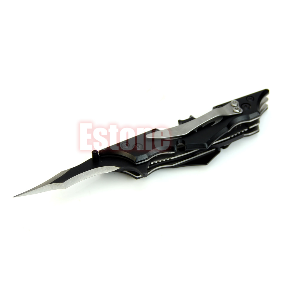 2020 New Outdoor Batman Two Dual Double Pocket Bladed Folding Knife Tool The Dark Knight