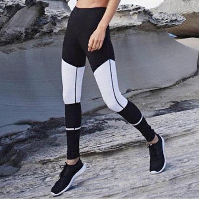 11af5b522a4243 2017 Mesh Sporting Leggings Black White Fitness Leggings For Women High  Waist Workout Leggings