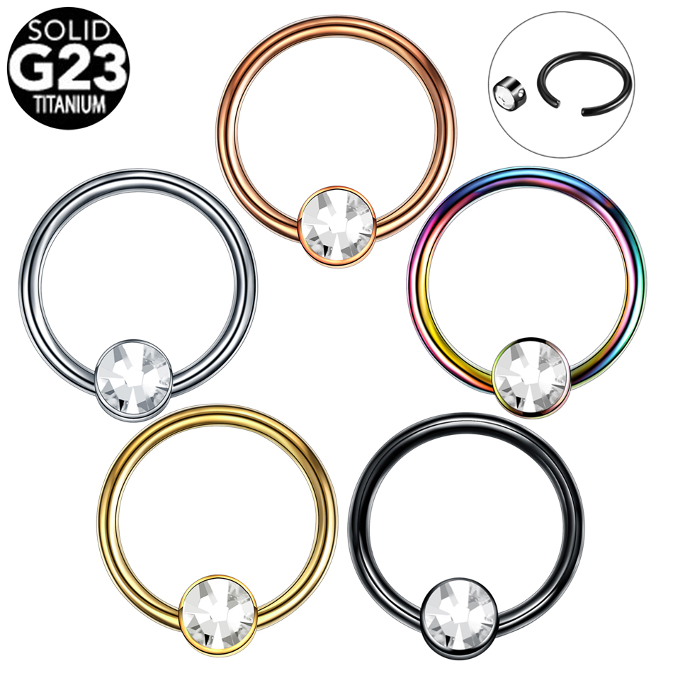Kind-Hearted 1pc Titanium Cbr Piercings Bcr Gem Closure Nipple Lip Eyebrow Nose Ring Crystal Daith Rook Ear Septum Helix Tragus Piercings 16g For Sale Jewelry Sets & More