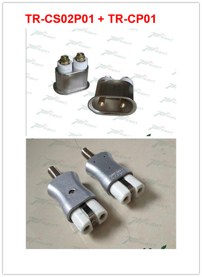 Two types plug TR CP01 and TR CS02P01 2pins connector