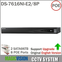 Original Oversea Version DS 7616NI E2 8P Network 16CH NVR 8 POE Interface 2SATA for HDD