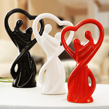 ceramic lovers home decor crafts room decoration handicraft ornament porcelain figurines wedding decorations