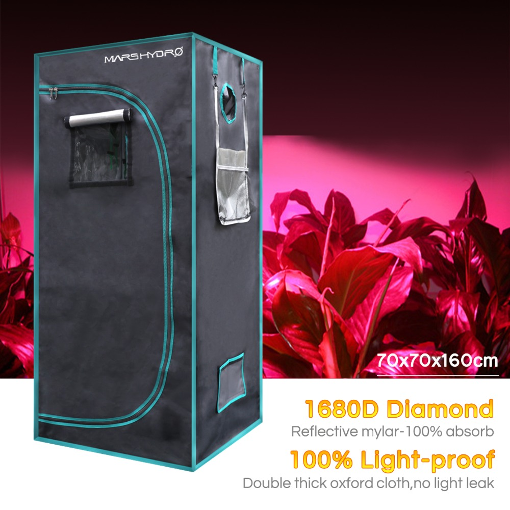 1680D Mars Hydro 70X70X160cm Indoor Grow Tent, Grow Room Plant Growing ,Garden Greenhouses