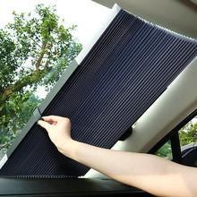 4 размера автоматический телескопический Регулируемая Защита от солнца солнечный экран для автомобиля Защита от солнца автомобили Грузовики лобовое стекло зонтик доска автомобиля занавес