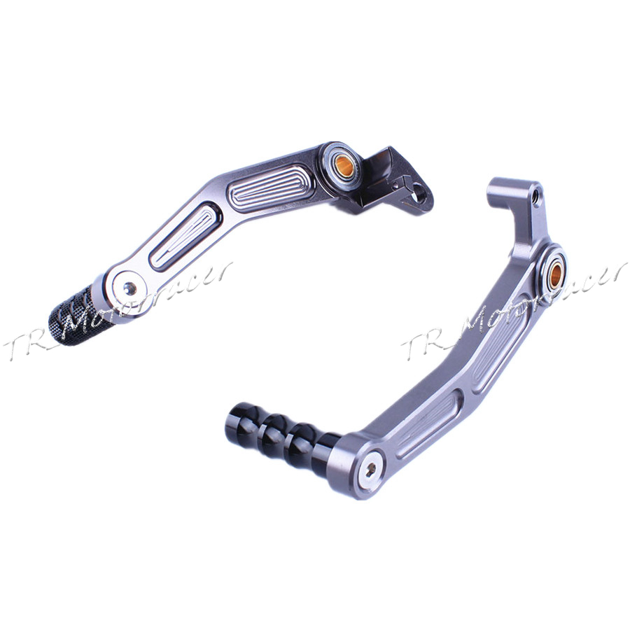 Motorcycle Aluminum Rear Foot Brake Gear Shifter Shift Pedal Levers For KTM DUKE 125/200/390 2013-2014 Moto Parts Gray for ktm duke rc 125 200 390 motorcycle cnc foot brake pedal lever gear shift levers orange