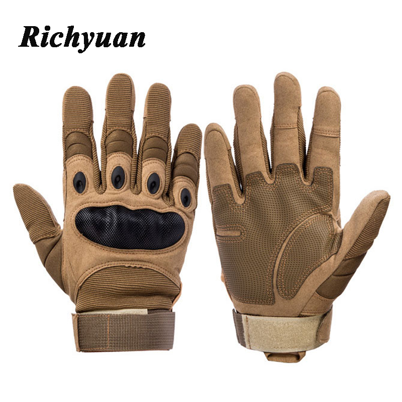 Tactical Gloves Military SWAT CS Gloves Full Finger Special Delta Forces Mens Police Duty Winter Thermal Anti-Slippery Gloves