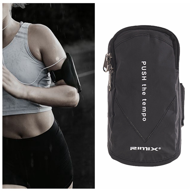 Reflective Sport Armband Case Zippered Waterproof Fitness Running Arm Band Bag Pouch Jogging Workout Cover For Mobile Phone