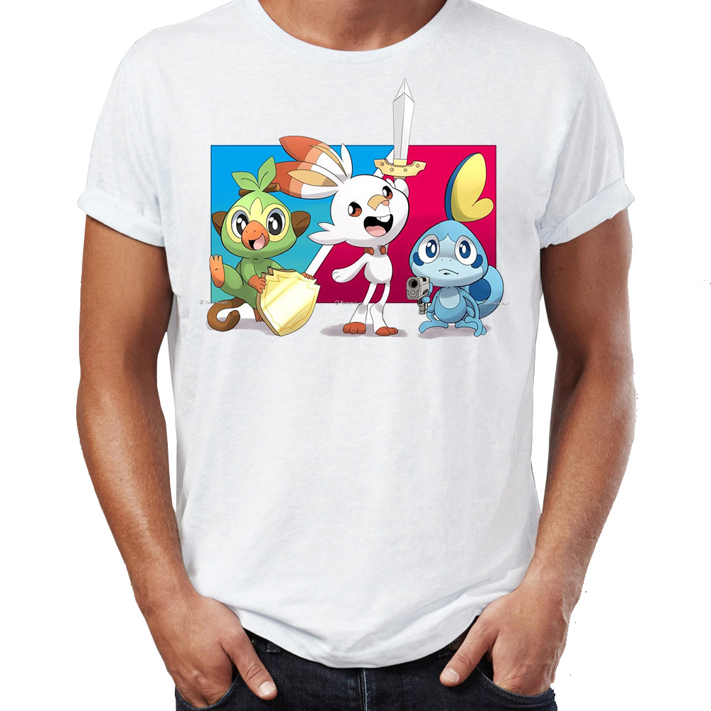 4d5ed204b Detail Feedback Questions about Men's T Shirt Pokemon Sword and Shield  Grookey Sobble Scorbunny Awesome Artwork Drawing Printed Tee on  Aliexpress.com ...