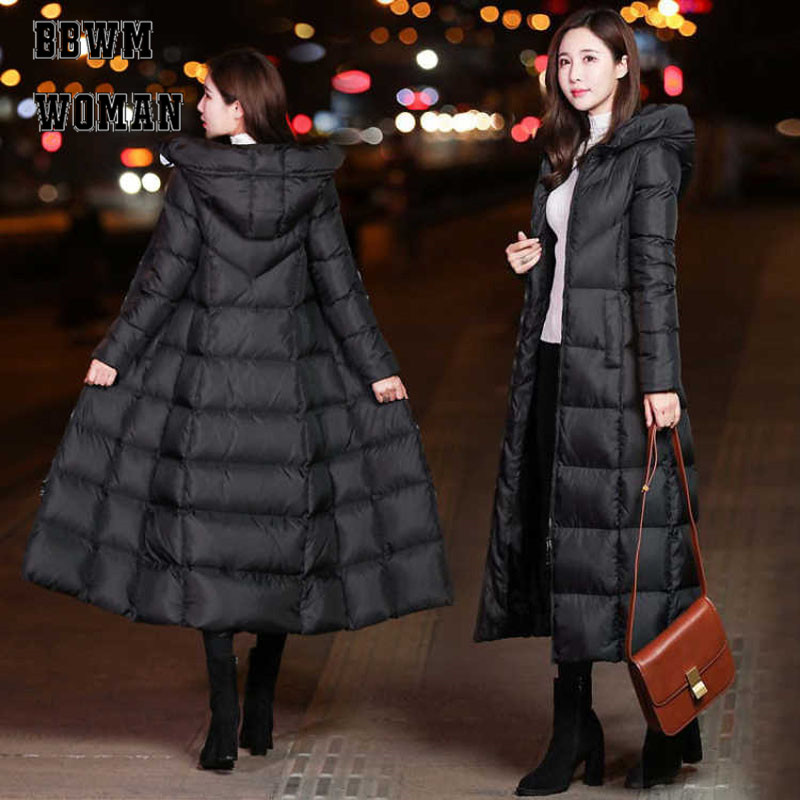 Winter Jacket Hoodies Padded Coat Women Warm Parka Black Thick Long Fashion Cotton Slim title=