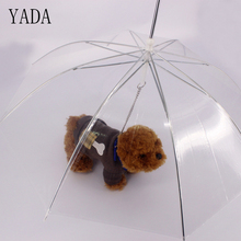 YADA High Quality Brand Umbrella Rain Small Dog with Traction Leash Transparent Reverse Inverted Umbrellas YS093
