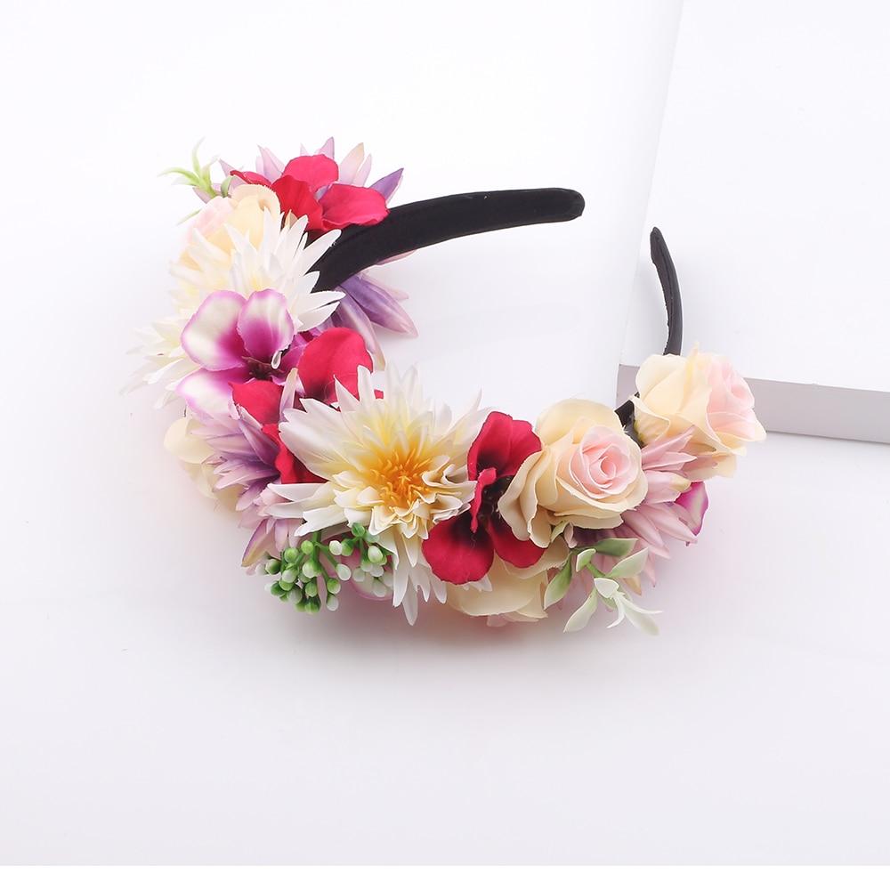 Artificial Daisy Flower Hairbands Festival Party Princess Wreath