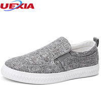 UEXIA New Handmade Slip On Mens Casual Shoes Men Canvas Hemp Shoes For Men Male Work