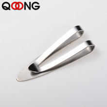 QOONG Custom Lettering Minimalist Money Metal Clip Stainless Steel Symbol Clips Fashion Accessories For Souvenir Gifts
