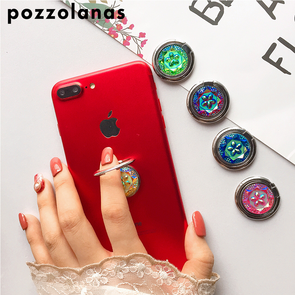 Pozzolanas Finger Ring Mobile Phone Holder Smartphone Stand Flower Folk-custom For iPhone Smart Phone IPAD MP3 Car Mount Stand smartphone