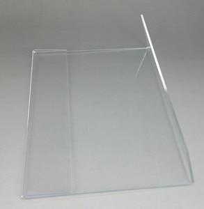 Image 2 - الجملة واضح T2mm A4 A5 البلاستيك الاكريليك تسجيل عرض عرض ورقة تعزيز مفارش طاولة بألوان متعددة تسمية أصحاب L حامل أفقي 500 قطعة