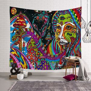 Image 4 - CAMMITEVER Abstract Colorful Painting Large Tapestry Wall Hanging Beach Towel Polyester Thin Blanket Yoga Shawl Mat