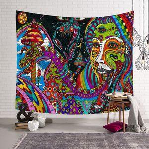 Image 4 - CAMMITEVER, pintura abstracta colorida, tapiz grande para colgar en la pared, toalla de playa, manta fina de poliéster, chal de yoga Mat