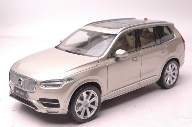 1 18 Diecast Model For Volvo Xc Xc90 2015 Gold Suv Alloy Toy Car