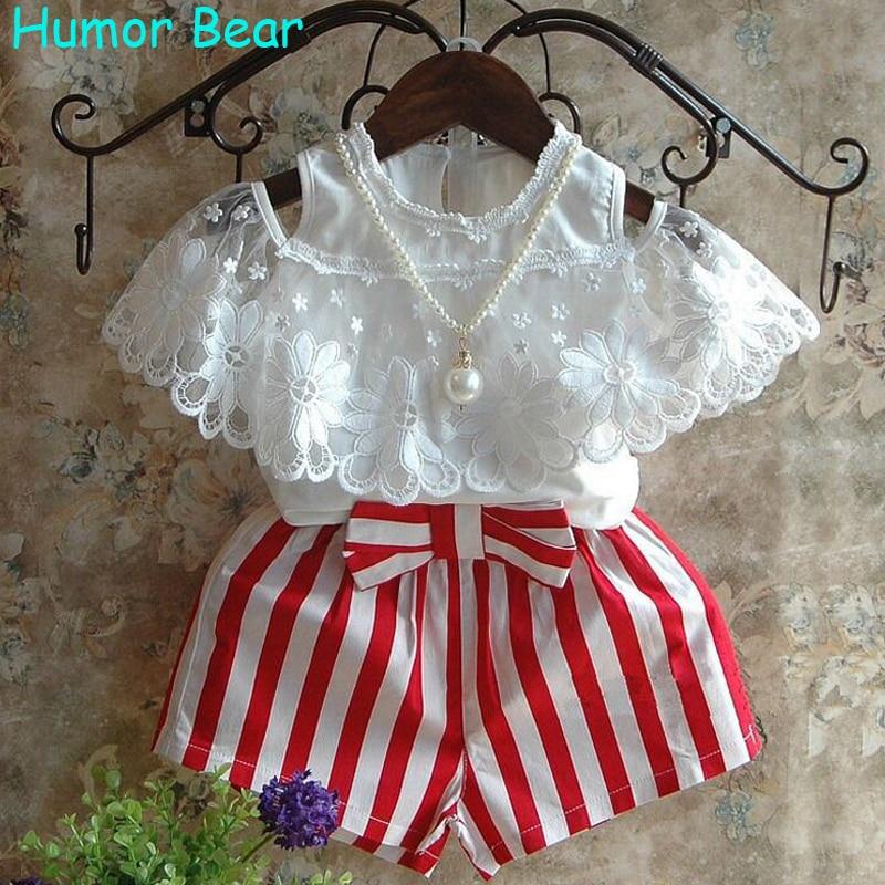 Humor Bear Kids Clothes Summer Shorts 2Pcs Children'S