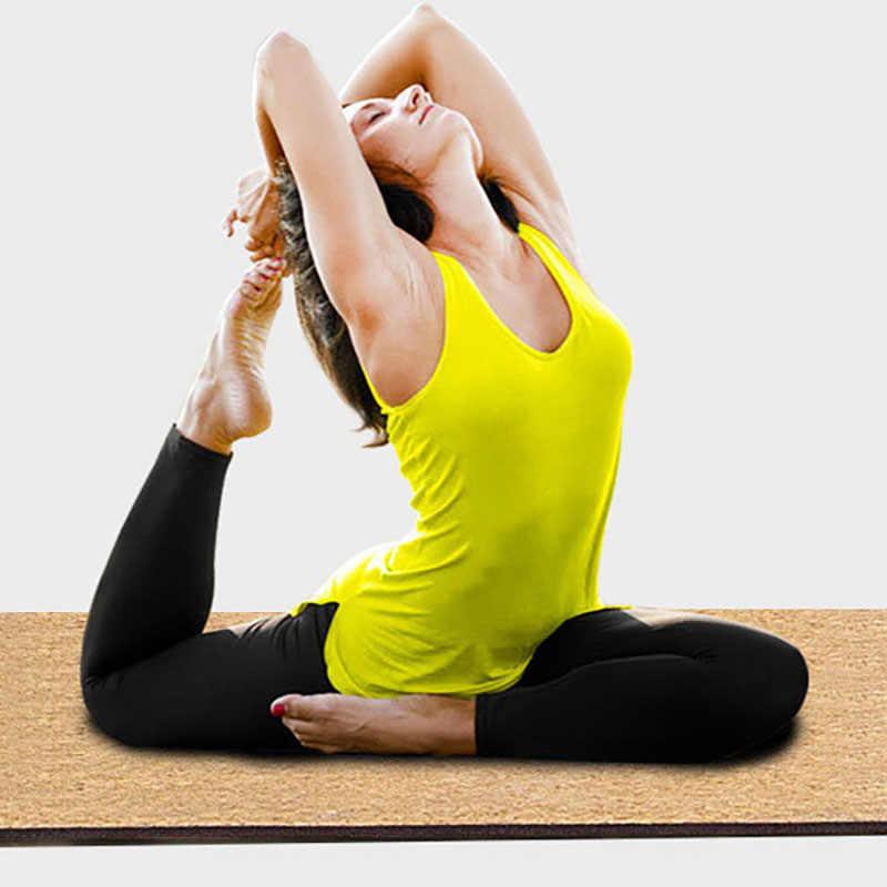 183*66*0.5cm TPE Natural Cork mata do jogi antypoślizgowe odchudzanie ćwiczenia Fitness gimnastyka kulturystyki Pad przenośny koc piknikowy