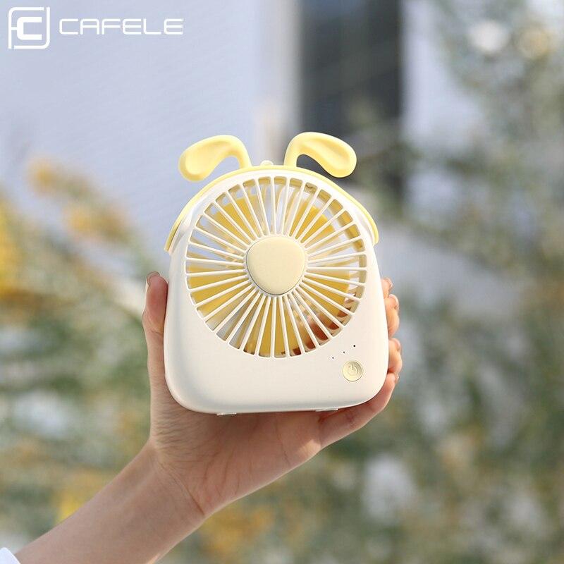 Cafele Mini USB Rechargeable Fan Summer Air Cooling Portable Handheld Desktop Desk Fan Small Mute Office Home Travel Car Fan,Pink