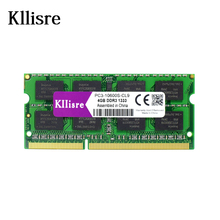 Kllisre DDR3 8GB 4GB 2GB Ram 1333Mhz or 1600Mhz 204pin Sodimm laptop Notebook memory