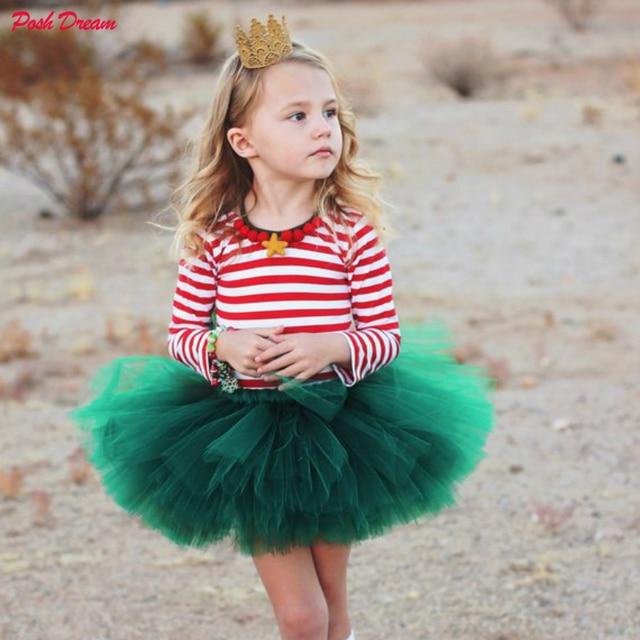 e53db6d2a0 POSH DREAM Hunter Green Kids Girls Tutu Skirts Dark Green Children  Pettiskirts for Party Photograph Birthday Green Holiday Tutu