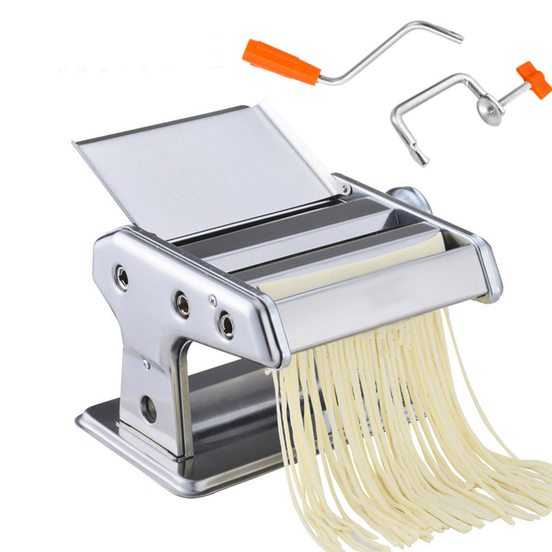 2 klingen Edelstahl Pasta, Der Maschine Manuelle Nudel Maker Hand Betrieben Spaghetti Pasta Cutter Nudel Aufhänger