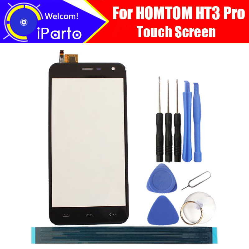 5.0 inch HOMTOM HT3 Pro Touch Glass Panel 100% Guarantee Original Glass Panel Touch Screen Replacement For HT3 Pro, 2 touch