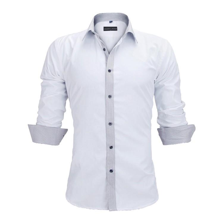 HTB1l4V8KVXXXXcQXXXXq6xXFXXXa - New Arrivals Slim Fit Male Shirt Solid Long Sleeve British Style Cotton Men's Shirt N332