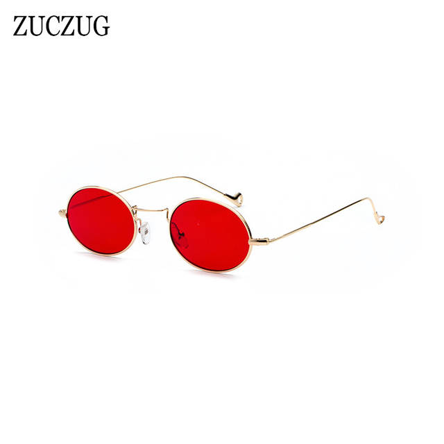 Frame Blue Sunglasses Retro Women Gold Red Size Round Glasses Lens Small Uv400 Sun Ladies Pink Oval Design Zuczug Brand kXNwP8n0O
