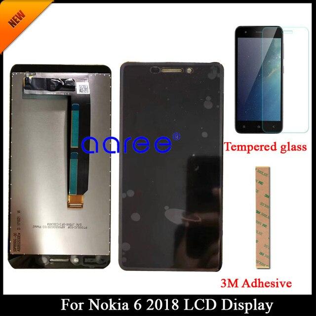 100% נבדק כיתה AAA LCD תצוגה עבור Nokia Lumia 6 2018 עבור Nokia 6 2018 TA-1045 LCD מסך מגע Digitizer עצרת