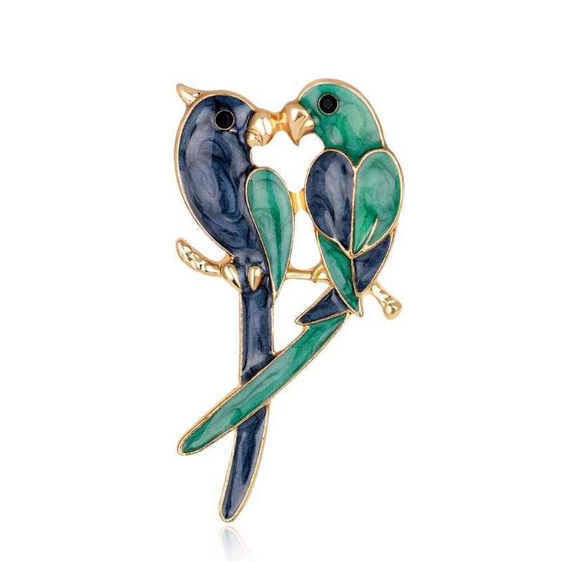 Free delivery New Arrival Birds Brooch Enamel Colorful Jewelry Fashion Women Gifts Decoration