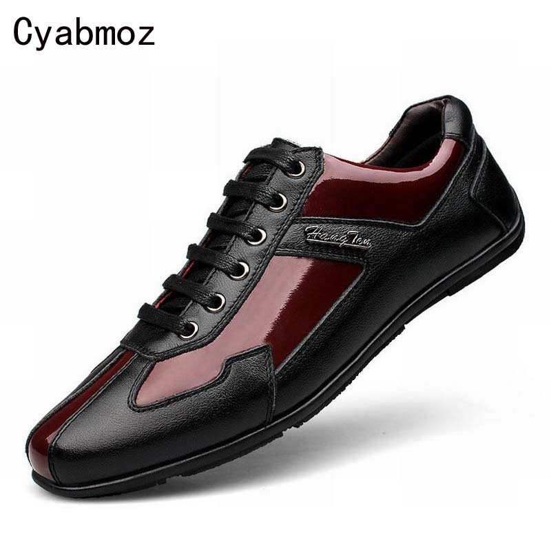 2017 spring new fashion genuine leather lace up travel casual shoes patchwork men flats lace-up driving shoes large size 38-48  men leather boat shoes vintage lace up casual driving shoes man fashion flats chaussure homme large size 46 loafers zapatillas