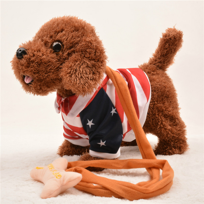 Funny Electronic Dog Pet Singing Walking Musical Plush Pet Robot Dog Toys Interactive Toys For Kids Baby One song
