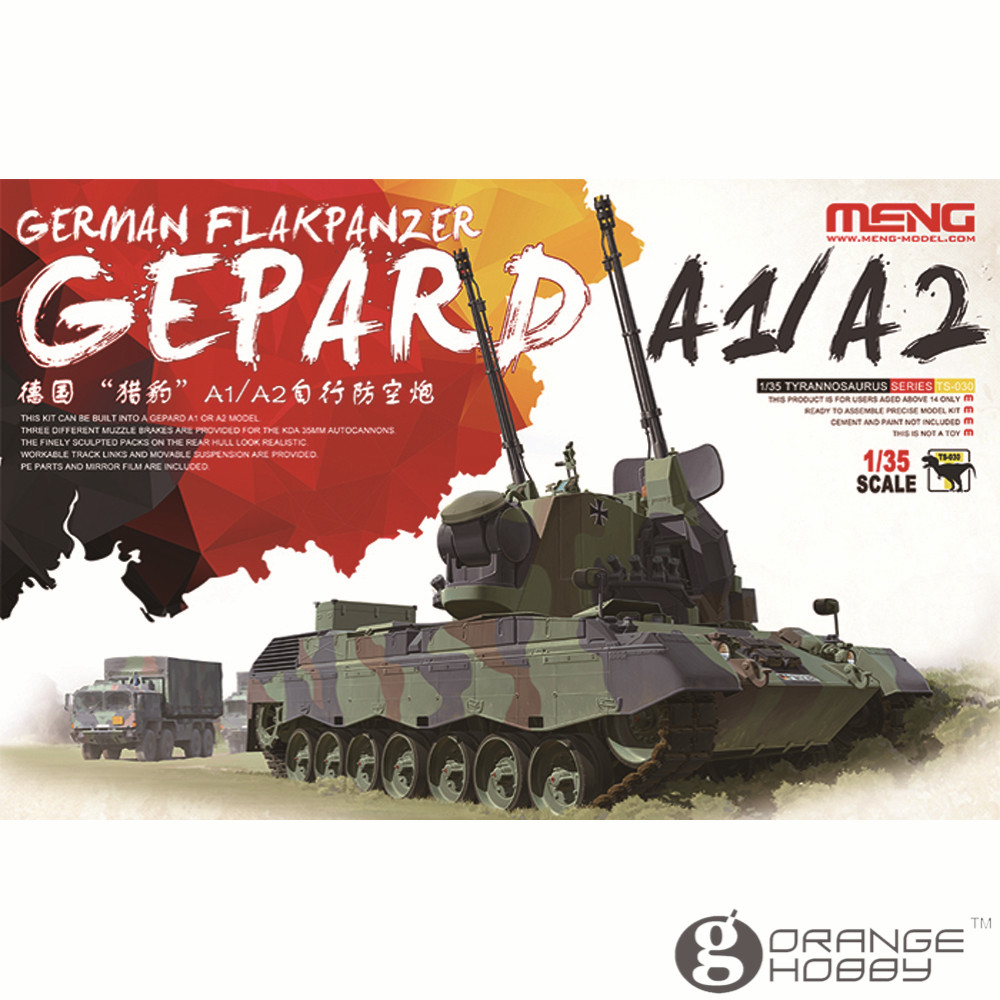 OHS Meng TS030 1/35 German FlakPanzer Gepard A1/A2 Assembly Scale AFV Model Building Kits realts dragon 6746 1 35 flak 43 flakpanzer iv ostwind w zimmerit