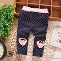 Outono e inverno bebê meninas leggings, Babys princesa grosso veludo doces Leggings calças, V478