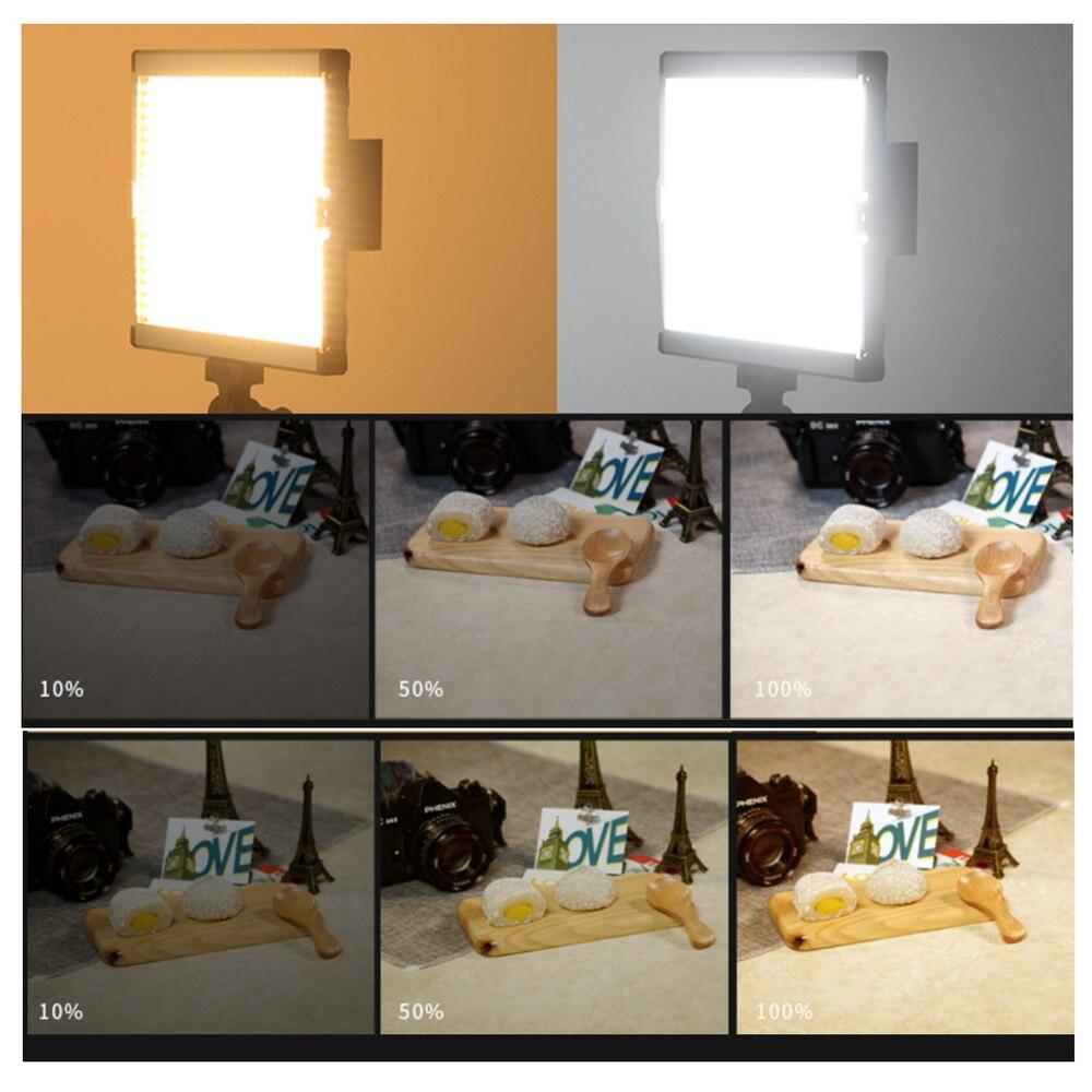 480 LED Video Light Studio Lighting Lamp 3200K/5600K Professional Photographic Lighting Set GE-500 480 led video light studio lighting lamp 3200k 5600k professional photographic lighting set ge 500