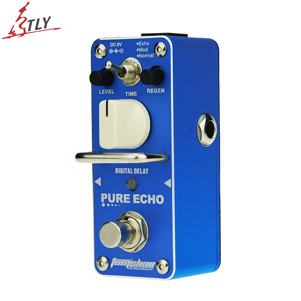 AROMA APE-3 True Bypass Pure Echo Digital Delay Electric Guitar Effect Pedal Mini Single Effect 3 Mode Selection amo 3 mario bit crusher electric guitar effect pedal aroma mini digital pedals full metal shell with true bypass