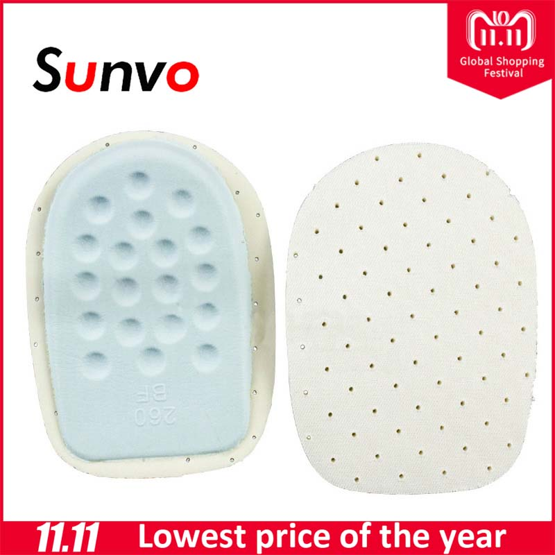 Sunvo Gel Heel Cushion Pads Relieve Foot Pain Half Insoles Protectors Back Pad Heel Cup Health Feet Care Support Shoe Inserts все цены