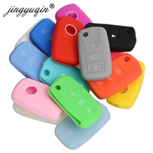 jingyuqin Silicone Key Case For VW Polo Passat B5 Golf 4 5 6 Jetta Mk6 Tiguan Golf CrossFox Plus Eos Scirocco Car Key Cover