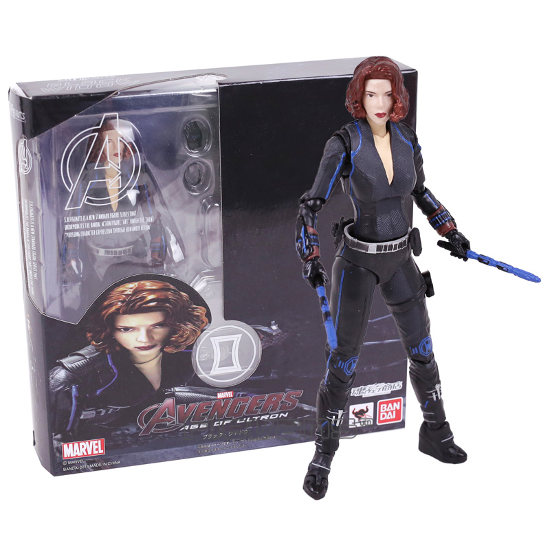 SHFiguarts Black Widow Avengers 2 Age of Ultron Natasha Romanoff PVC Action Figure Collectible Model Toy 15cm xinduplan marvel shield iron man avengers age of ultron mk45 limited edition human face movable action figure 30cm model 0778